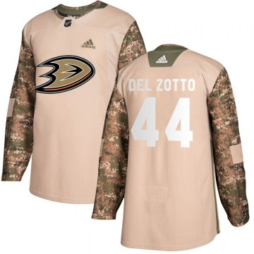 Adidas Anaheim Ducks Youth Michael Del Zotto Authentic Camo Veterans Day Practice NHL Jersey